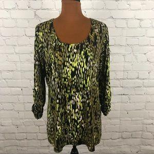 Susan Graver Liquid Knit Size L Olive